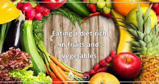 Eating a diet rich in fruits and vegetables
