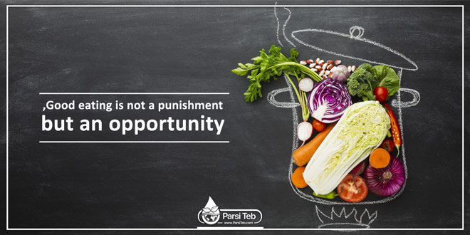 Good eating is not a punishment, but an opportunity