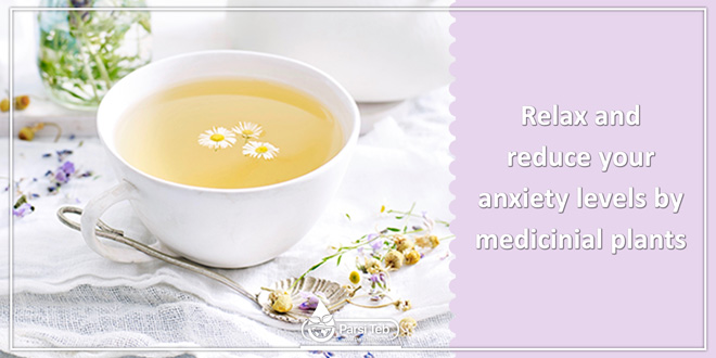 Relax and reduce your anxiety levels by medicinial plants