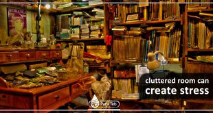 cluttered room can create stress